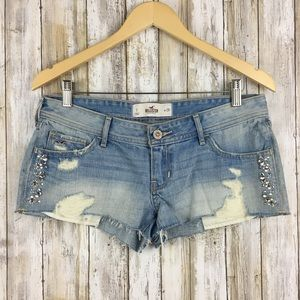 Hollister Embellished Distressed Cutoff Shorts 7